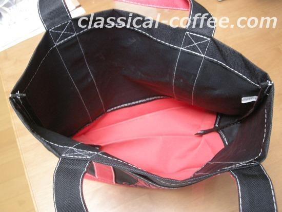 森のコーヒーのトートバッグの内側